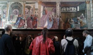 Roberto Ohrt, Symposium's visit at Cappella Tornabuoni, Santa Maria Novella, Florence