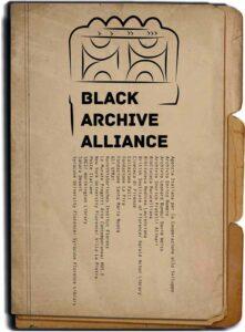 Poster, Black Archive Alliance Vol. 1, 2018