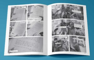 Archive_Fehras, From Borrowed Faces, issue no. 1, photo novel, 136 pages, 24 x 33,2 cm, printed in Arabic and English, 1000 copies; published by Fehras Publishing Practices