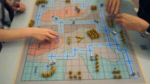 Mikhail_Karikis, <em>Larderello</em> - the board game in action, 2014, 5th Thessaloniki Biennale, Greece