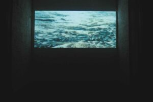 Sarah Samy, <em>Meanwhile a Whale Cries</em>, 2011, installation view, video, 15'