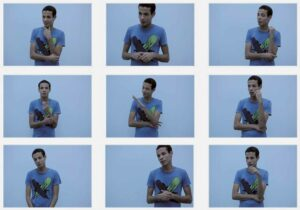 Mohamed Nabil, <em>Interview with Three Artists</em>, video still, 5'
