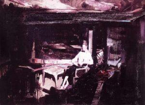 Enkelejd_Zonja_<em>The Dreamer</em>, 2020, 40 X 38 cm, oil on canvas