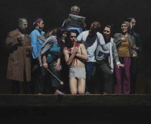 Enkelejd_Zonja, <em>Visit in the Wound</em>, 2013, 250 x 200 cm, oil on canvas