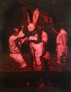 Enkelejd_Zonja,<em>Identic Fiction</em>, 2015, 170 x 120 cm, oil on canvas
