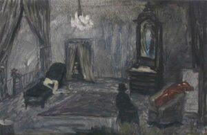 Enkelejd_Zonja, <em>The White skin pet</em>, 2012, 40 x 28 cm, oil on canvas