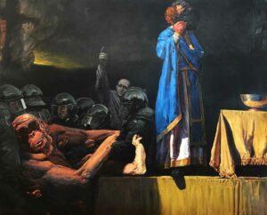 Enkelejd_Zonja, <em>Lack of Vision</em>, 2019, 160 x 130 cm, oil on canvas