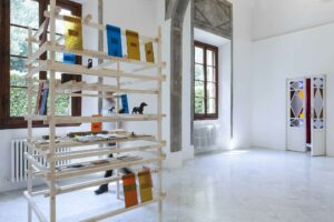 Eleni_Kamma, From Bank to Bank on a Gradual Slope, 2012, installation view, Villa Romana, Florence
