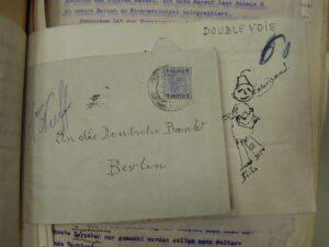 Judith_Raum_Eser, Protest Letter sent by Anatolian railway personnel to Deutsche Bank; photo: Judith Raum