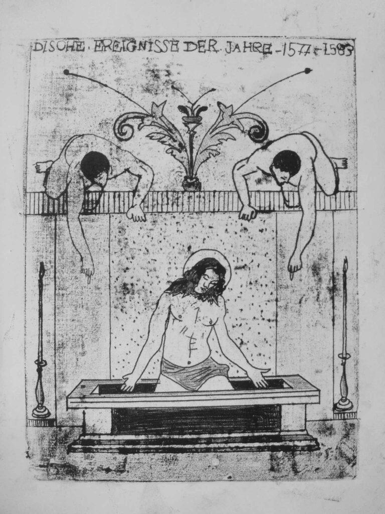 Hany_Rashed, Monoprint, 2009, ink on paper, 18 x 24 cm