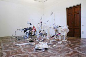 Eva_s_aria-Karen_Sargsyan, <em>Philosophy in bed or Eva's aria</em>, 2008, exhibitions views, Villa Romana, Florence; photo: Villa Romana