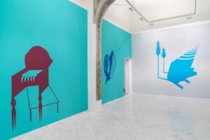 -Mona_Marzouk,<em>RENOVABITVR (RENEWAL)</em>, 2015, exhibition view, Villa Romana, Florence; photo: OKNOstudio