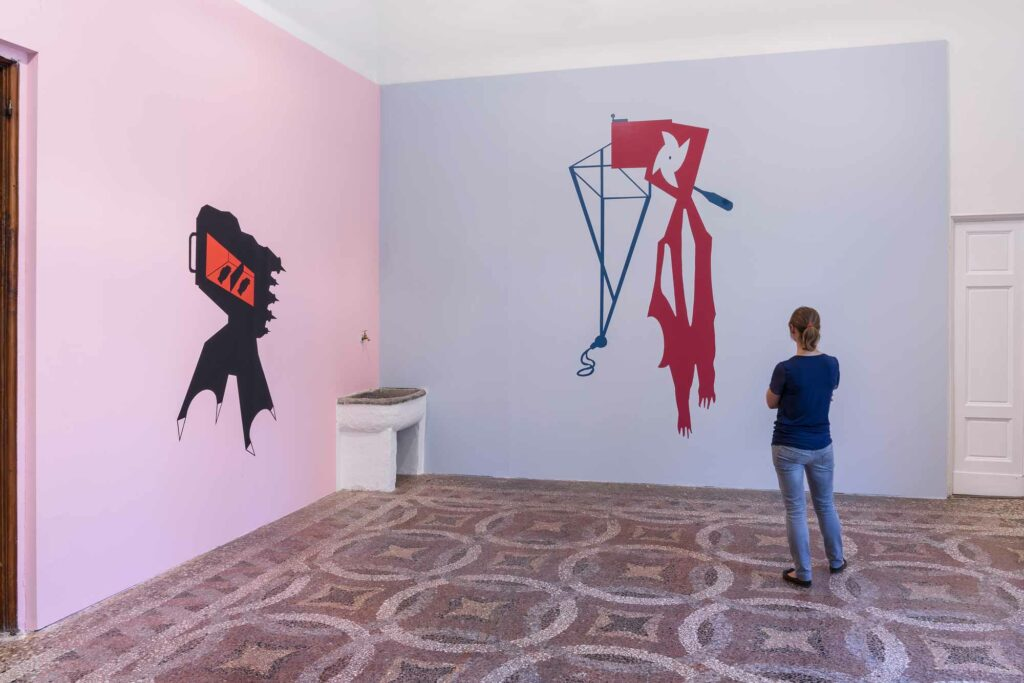 Mona_Marzouk, RENOVABITVR (RENEWAL), 2015, exhibition view, 2015, Villa Romana, Florence; photo: OKNOstudio