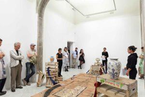 Liz_Glynn_<em>Untitled Power Struggle</em>, 2013, exhibition view, Villa Romana; photo: Nicolò Burgassi