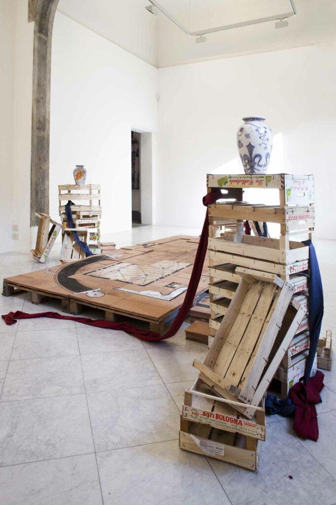 Liz_Glynn_Untitled Power Struggle, 2013, exhibition view, Villa Romana; photo: Nicolò Burgassi