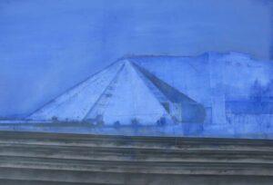 Edi_Hila_<em>Pyramides</em>, 2011, oil on canvas, 106x155 cm