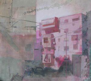 _Edi_Hila_<em>Periferi 1</em>, 2001 oil on canvas, 12.5x139.5 cm