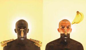 Zineb-Sedira, <em>A Relative History of Man</em>, 2011, lightbox, 116 x 200 cm; photo: Atef Berredjem