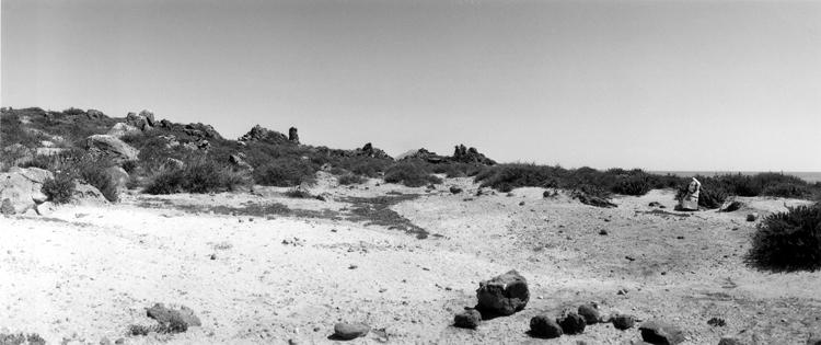 L'Avventura senza fine I, Series of 8 b/w panorama photographs on Alu Dibond, 153 x 64 cm, framed, 2000