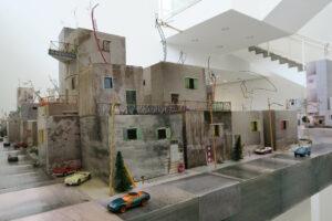 <em>Qalandia 2087</em>, 2009, mixed media installation, 5x9m