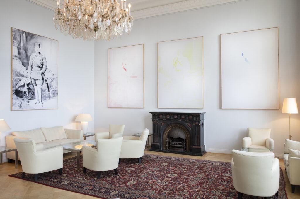 Crossdresser, 2014-19, digital print on wooden frame, 4x150x213cm, installation view
